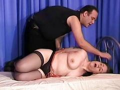 Chubby chick got her big tits punished super rough BDSM