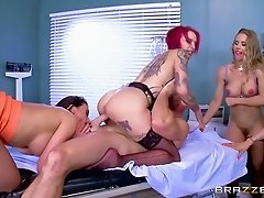 Orgy in the hospital with the hottest big titty nurses