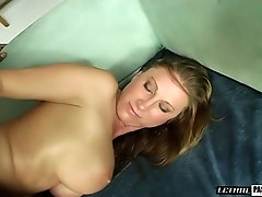Bent over whore with rounded booty Devon Lee gets hammered doggy hard