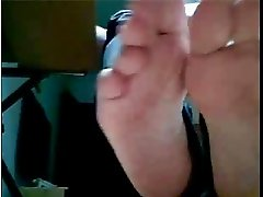 Straight guys feet on webcam #528