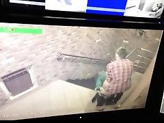 Lustful amateur lovers enjoying doggystyle sex on hidden cam