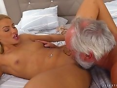 75 years old geek fucks yummy blond haired girlfriend Chary Kiss