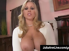Step-Mom Julia Ann Flashes Son-In-Law How To Jerk His Man Sausage Off!
