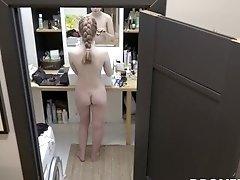 Czech ginger Alexandra - Hidden spy camera in bathroom
