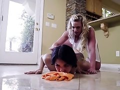 Mature lesbian Phoenix Marie gives Gina Valentina a hard fingering