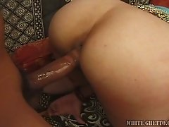 Flat chested Indian slut gets her wet cunt fucked from behind
