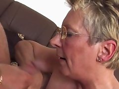 Hot Blonde Granny and her affair