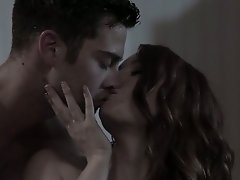 Alluring and romantic gal Dani Jensen gets her pussy licked before passionate sex