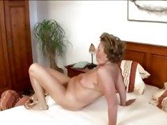 Retro German grandma gets hairy pussy satisfied in vintage adult video