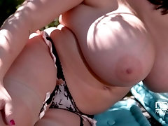 Salacious Nature - Busty Bombshell Plays with Sexy Feet