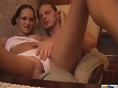 Homemade amateur sex tape of a Russian couple fucking