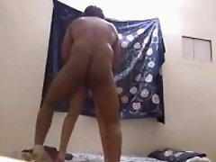 Indian house wife stroking fucking and licking in the home