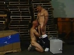 Cock Hungry Muscled Men Warehouse Ass Fucking
