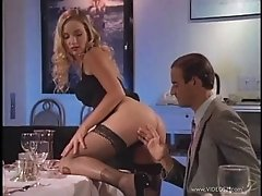 Gorgeous Babe Fucked Hard On The Dinner Table Doggystyle