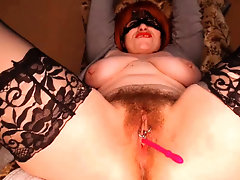 Chubby Mature in Stockings Fingers and Toys