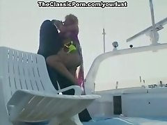 Sensational blonde bimbo on the yacht is ready to have wild sex