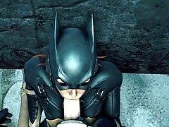 Batgirl loves sucking cock