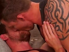 Two hot bi muscle studs go at it when Richard Pierce and Kurtis Wolfe suck