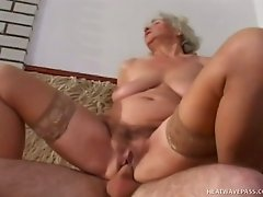 Raunchy time worn granny fucking like dirty in old and young porn clip
