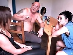 Busty housewife Natalie Hot shares a dick with her horny friend