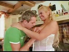 Horny busty blonde MILF