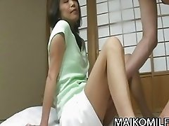 Toshi Enami  Mature JAV Riding On Young Cock