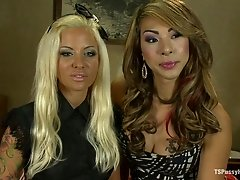 Naughty Tattooed Blonde Chick Gets Fucked Hard and Nice by Tranny