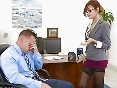 Twistys Hard - Jade Jantzen gets some office dick