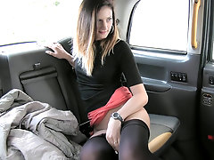 Big cock cabbie fucks a gorgeous slut in his car