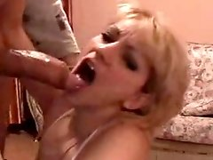 Hot wife fucks her husband and gets covered in his warm gooey cum!