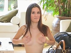 A very pretty amateur walks around the house fully nude