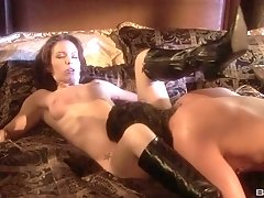 Mature redhead seductress Jenna Presley pussy pounded missionary style