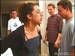 Breathtaking nerdy chick decides to finally have a taste of anal sex