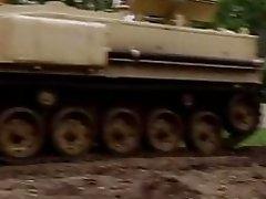 Badass babes drive big tanks and biking
