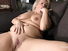 BBW mature amateur Erotic Ann slowly strips off her clothes