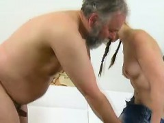 Hardcore sex is always best when you see an older guy doing