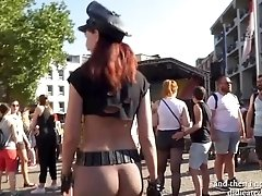 Sexy Jeny Smith at Christopher Street Day parade at Cologne. With Public Nude scenes.