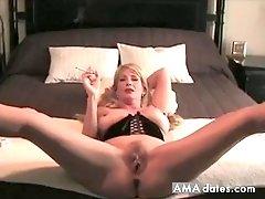 Hot Blonde milf  Smoking and Banging