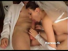 Just Married Couple Having Sex