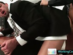 Hot anal sex in office