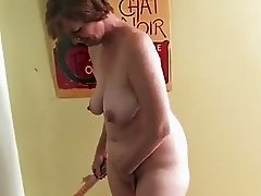 Housewife starts to masturbate
