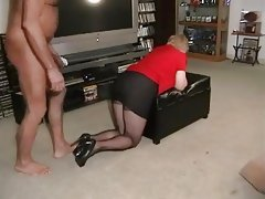 Mature BBW Tries to Take BBC!