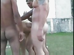 Brazilian football gangbang